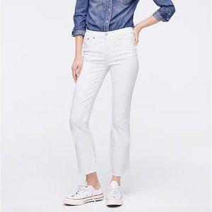 "J.Crew $125 9"" Demi Boot Crop Jean in White 24"